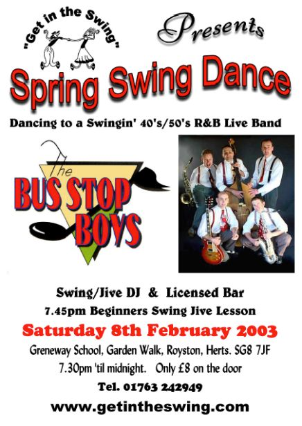 Bus Stop Boys Flyer 12-4-03